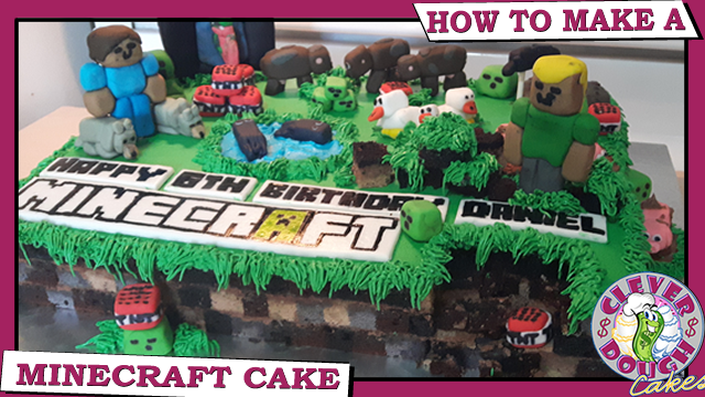 How To Make A Minecraft Cake For A Birthday Idea
